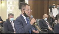 السفير د. منتصر أبو زيد خلال القاء الكلمة